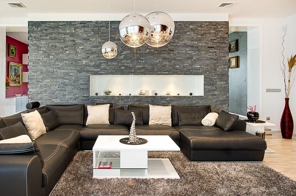 Kamenné obklady do obýváku